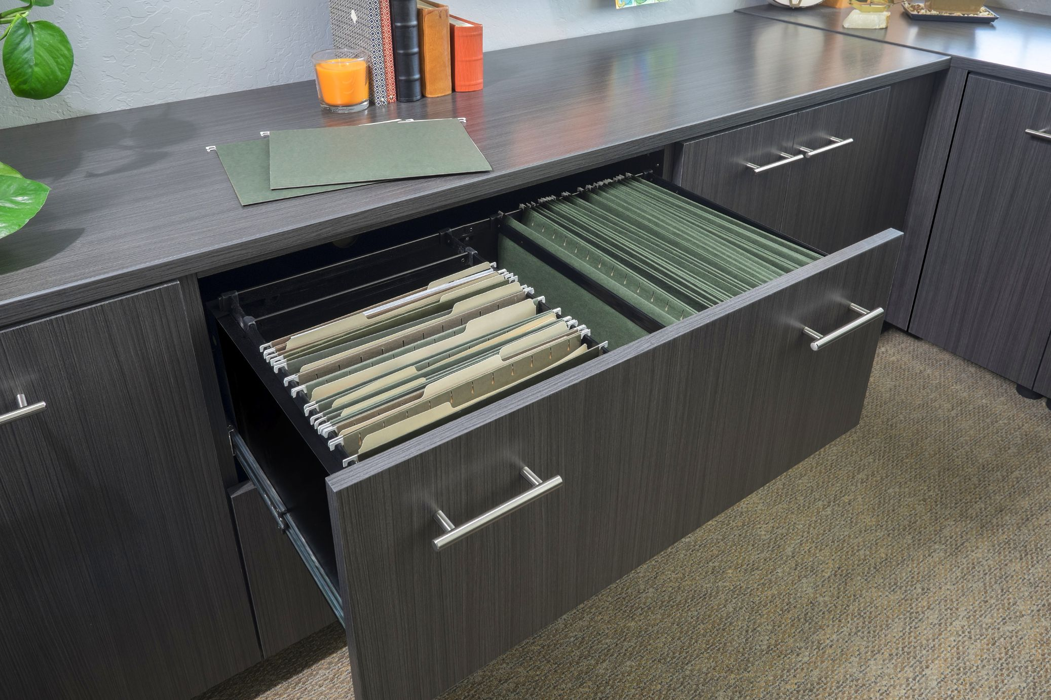 Licorice Flat Panel File Drawer