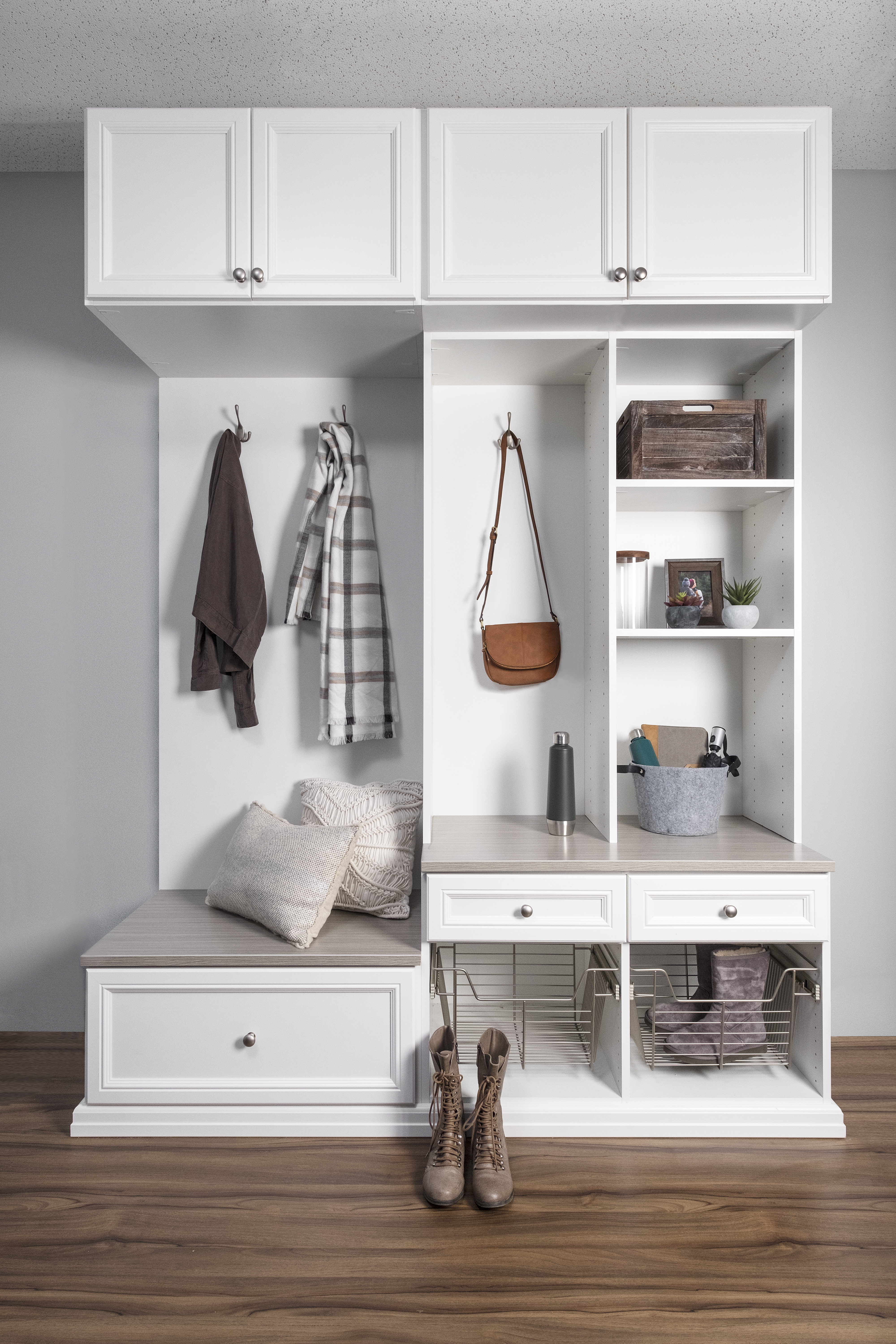 White Milan Mudroom
