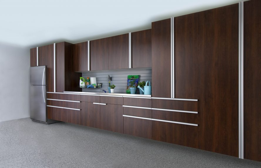 Coco Cabinets w Extruded Handles - Stainless Workbench