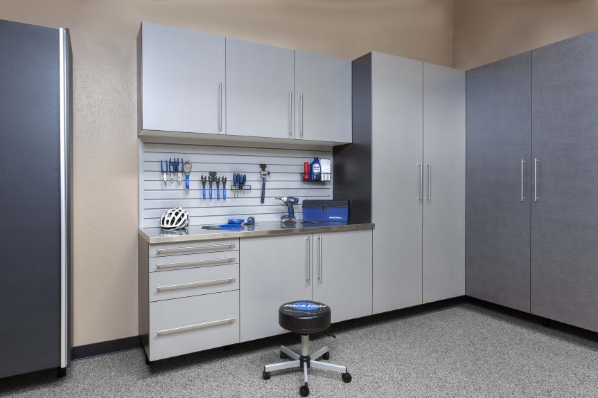 Silver Cabinets with Ebon